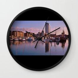 The Swansea Maritime Quarter. Wall Clock