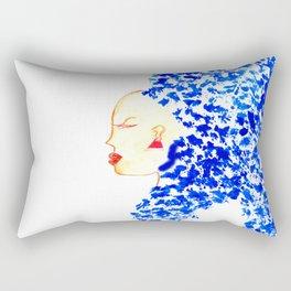 Blue Cleopatra Rectangular Pillow