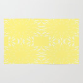 Lemon Yellow Color Burst Rug