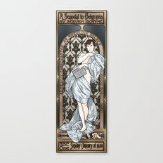 A Scandal in Belgravia - Mucha Style Canvas Print