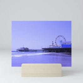 Purple Haze Santa Monica Pier Mini Art Print