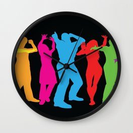 People Dancing Wall Clock