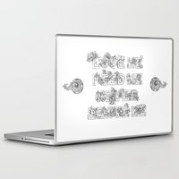 garfield Laptop & iPad Skins featuring Love Me, Feed Me, Never Leave Me by Ketina