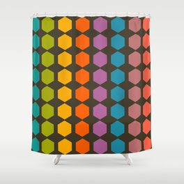 geometry game Shower Curtain