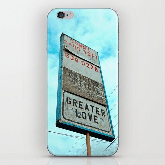 Greater love iPhone & iPod Skin
