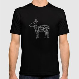 Venison Butcher Diagram (Deer Meat Chart) T-shirt