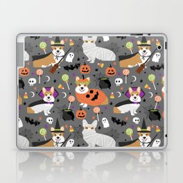 Corgi halloween costume ghost mummy vampire howl-o-ween dog gifts Laptop & iPad Skin