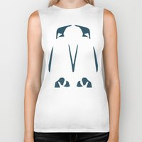 army Biker Tanks featuring Penguin Army by Sarah Jane Jackson