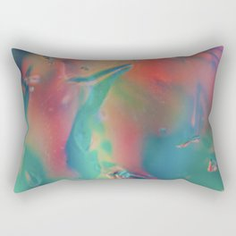 Abstract - turquoise and coral - Rectangular Pillow