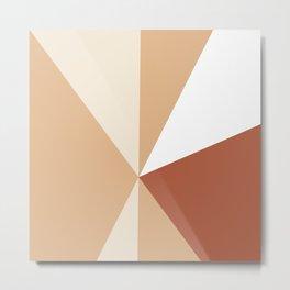 Tetrachromatic geometry sand and rust Metal Print