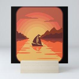 SAILING SHIP SUNSET SAILING CREW Gift Sailor Mini Art Print