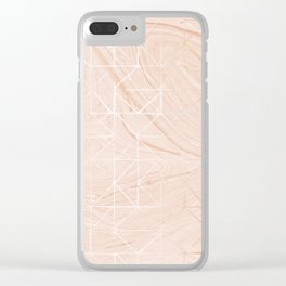 Marble Geo Clear iPhone Case