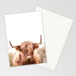 Highland Cow in a Field Southern Stationery Cards