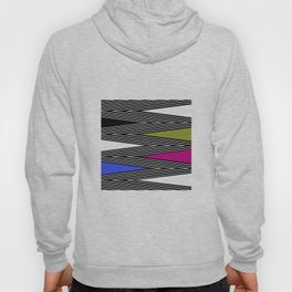 Abstract black and white Zigzag pattern of Multicolored triangles . 1 . Hoody