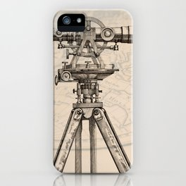 Vision in vintage mechanics iPhone Case