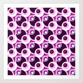 Summer of love cross-eyed circles pattern Art Print