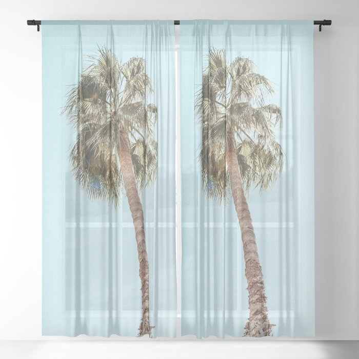 Single Palm Sheer Curtain