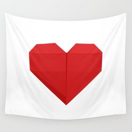 Origami Heart Wall Tapestry