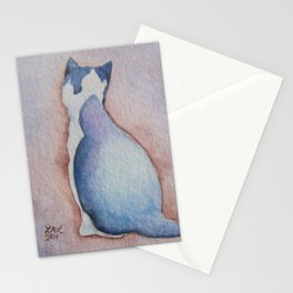 Cat Study Stationery Cards
