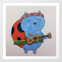 catbug Art Prints featuring Catbug by Brittsa Me
