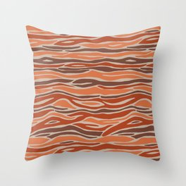 Orange desert Throw Pillow