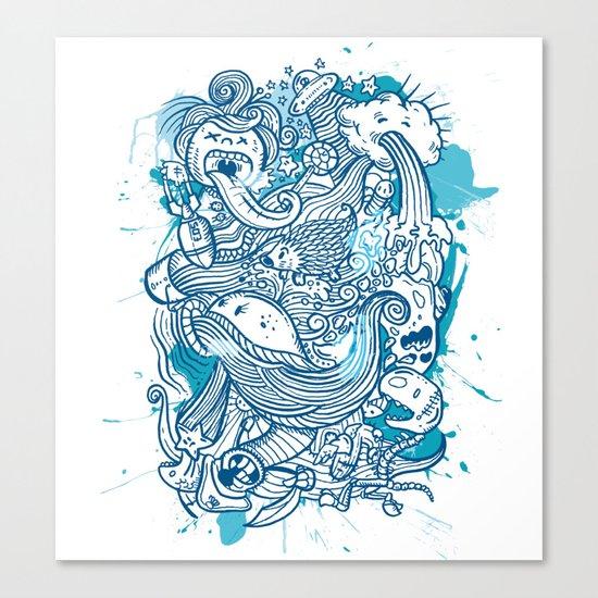 Random Doodle Canvas Print