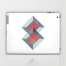 Translucent geometry blue Laptop & iPad Skin