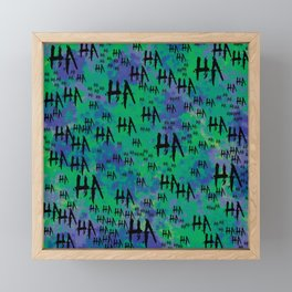 Joke: HA HA HA Framed Mini Art Print