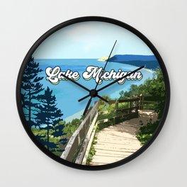 Lake Michigan Retro Wall Clock