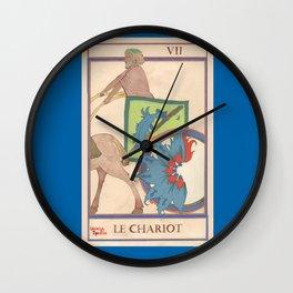 Tarot card The Chariot-Le Chariot Wall Clock