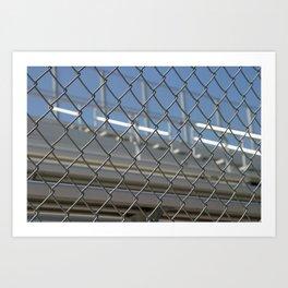 Bleachers Behind Fence Art Print
