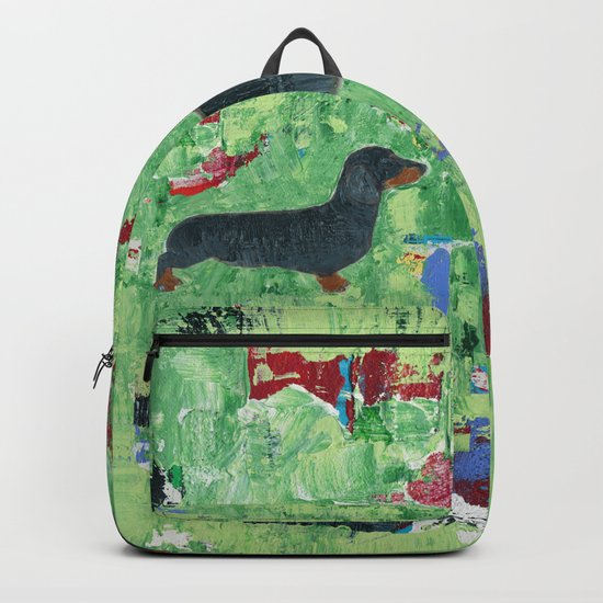 Dachshund Weiner Dog Painting Backpack