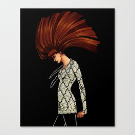 Lady Grinning Soul Canvas Print