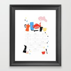 Calendar 2014 Framed Art Print