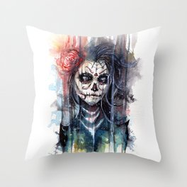 sugar skull - calavera de azucar Throw Pillow