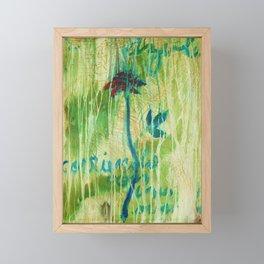 Azul Corriendo con una Memoria Framed Mini Art Print