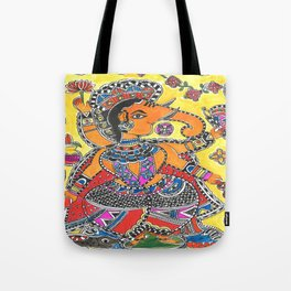 Madhubani - YellowGanesh Tote Bag