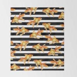 The Golden One II - b&w stripes Throw Blanket