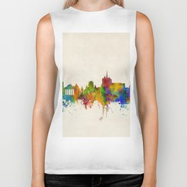 Geneva Switzerland Skyline Biker Tank
