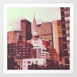 Chrysler Building from 2nd Ave Art Print