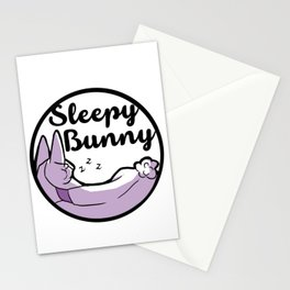 Sleepy Bunny Logo Stationery Cards