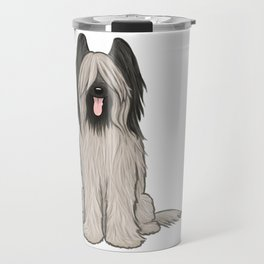 Cute Briard Cartoon Dog Travel Mug