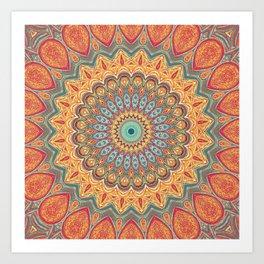Jewel Mandala - Mandala Art Art Print