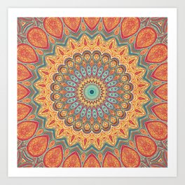 Jewel Mandala - Mandala Art Kunstdrucke