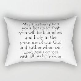 1 Thessalonians 3 13 Rectangular Pillow