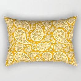 Paisley (White & Orange Pattern) Rectangular Pillow