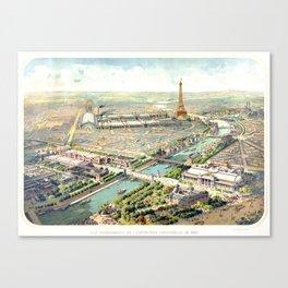 Paris World Fair 1900 Canvas Print
