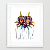 majoras mask Framed Art Prints featuring majoras mask by Haily Melendez