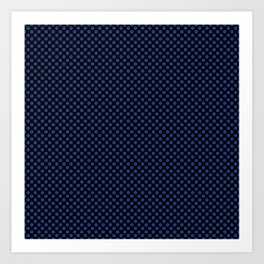 Black and Sapphire Polka Dots Art Print