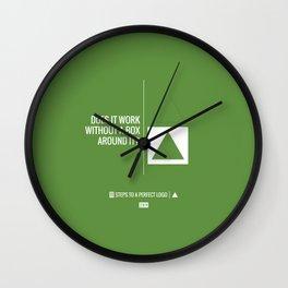 Perfect Logo Series (2 of 11) - Green Wall Clock